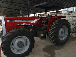 Fresh import MF 385 4WD with free plough,and 1 year warranty.
