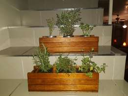 herb kitchen windowsill garden planter and pots