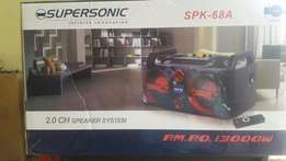 Supersonic speker system with Bluetooth usb memory card pot