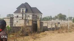 land for sale at lugbe along Airport road Abuja