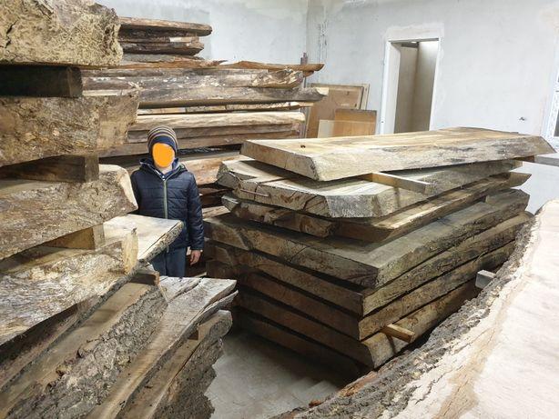Stół Drewniany Dębowy Lite Drewno Blat Monolit Kuchnia