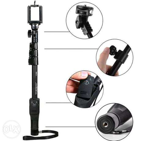 Professional selfie+monopod stand for mobile n camera(new)