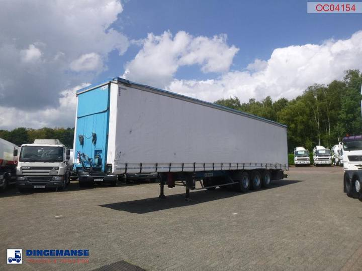 Jeep Curtain side trailer 92 m3 / lift axle - 1999
