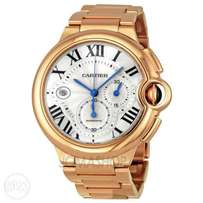 New Gold Cartier men wrist watch - chain