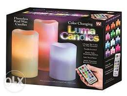 Luma Candles Flameless Candles with Remote Control Timer, 3 Candle Set