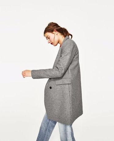 ZARA NOWY z metką Sweter Płaszcz z dużymi klapami długi M