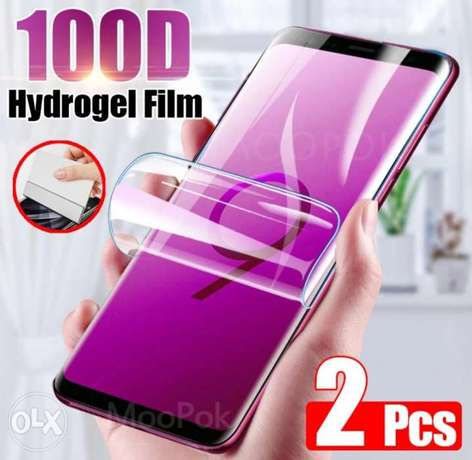 Two Note 10 hydrogel screen protectors
