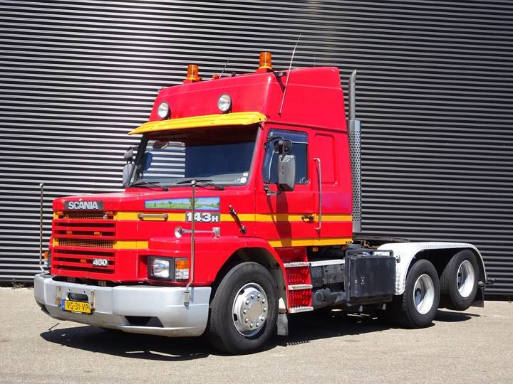 Scania T 143H 450 V8 / 6X2 TORPEDO / HAUBER / T-CAB - 1990