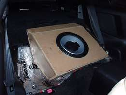 We install sound and build customize subwoofer boxes any car or bakkie