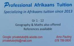 Professional Afrikaans Tuition