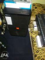 Complete set of instrument 4 speakers 1 kebord 1500 watts power mixtur