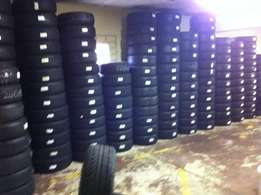 Second hand and new tyres available in stock