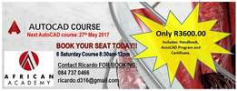 AutoCAD Training ONLY R3600.00 with Recognized Certificate