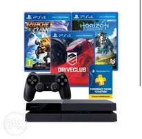 Brand New PS4 Bundle 500GB + 3 Games + 90 Days Membership Card