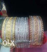 Rose, Gold and Silver Colours Bangles
