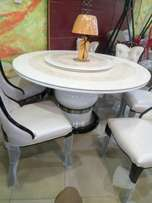 Marble dining table round by6
