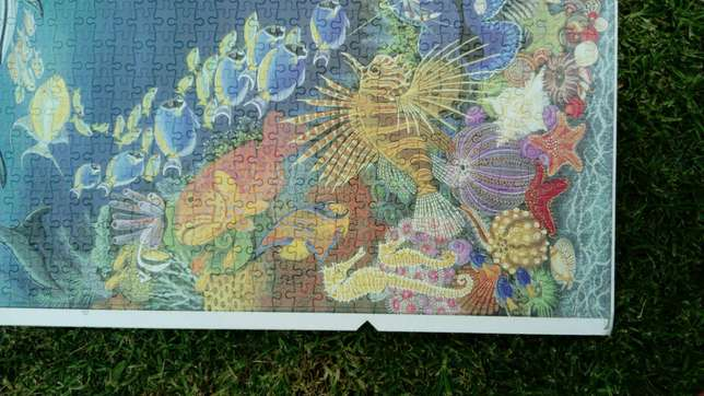 1500 piece completed ocean puzzle River Crescent - image 2