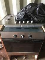 Gas upper electric oven