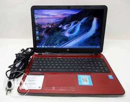 Hp 15 duo core 4gb 500gb all softwares windows 10 red laptop 21,500