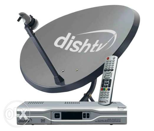 Airtel hd receiver with big size dish antenna sale installation