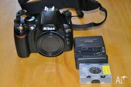 Nikon d60 (body only) plus charger and battery