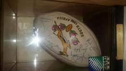 Signed rugby ball 1995 winning team