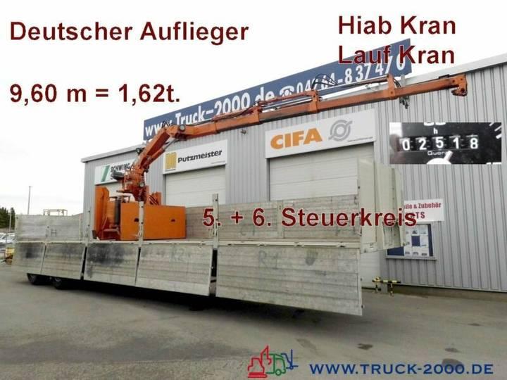 Langendorf 20/27 Baustoff/SteinAuflieger Roll Kran HiabR165 - 1994