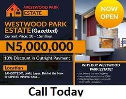 Westwood with Gazette close to New Shoprite selling at N5million