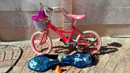 Bicycle and street board