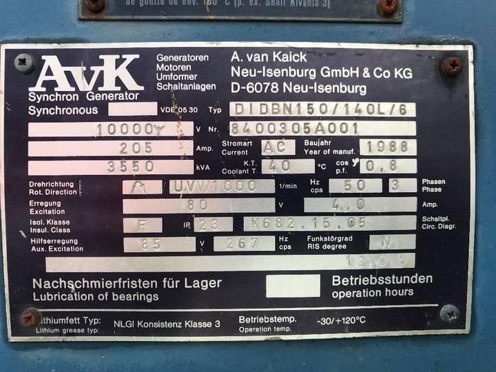 A. van Kaick 3.550 kVA Alternator - 10.000V - DPX- - 1988 - image 2