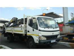 Toyota Dyna 7-195 Duel Side Tipper With Hiab 077 DUO CRANE