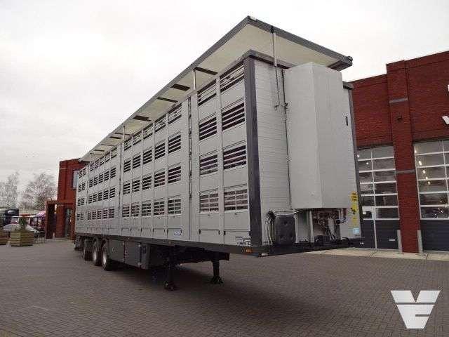 MENKE 4 deks veeoplegger livestock semi-trailer - 2008