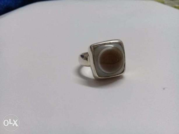 Beautiful silver ring with sulaimani stone