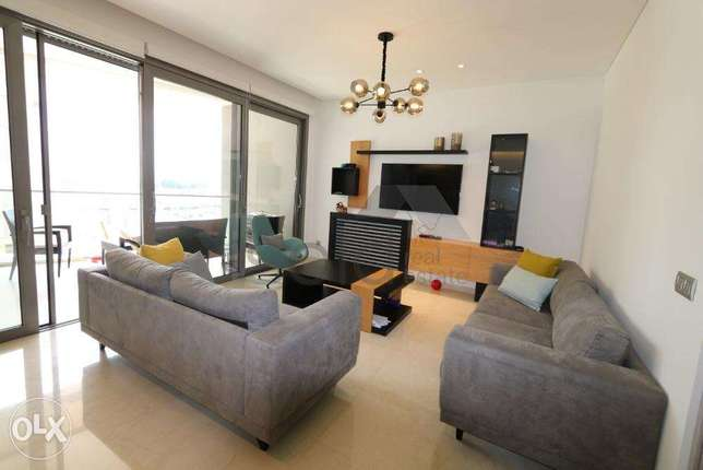 Fully Furnished 180 m2 apartment in waterfront dbayeh + open sea view