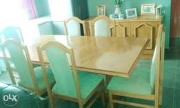 Dinning Room Table with Chairs & side unit