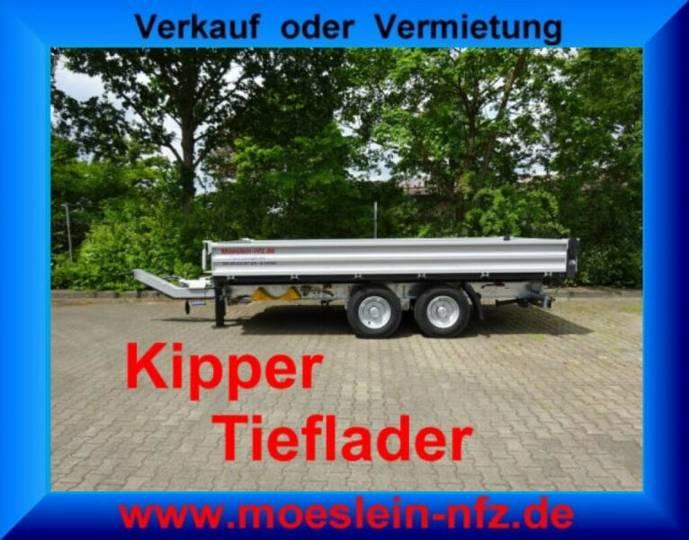 Möslein TTD11 Silber Tandem Kipper Tieflader-- Neufahrze - 2019