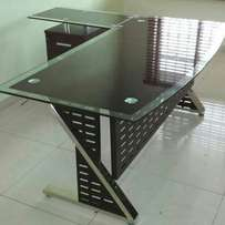 Glass office table 1.8 mtr