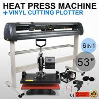Combined Branding Machines Heat press n Plotter cutter available