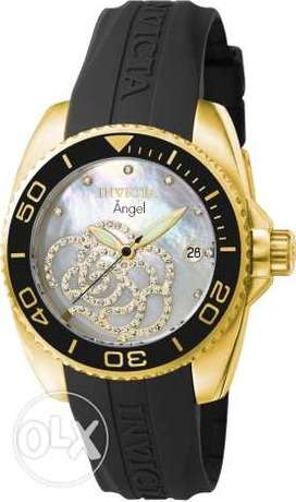 Invicta Women's 0489 Angel Collection Cubic Zirconia-Accented Watch Wi