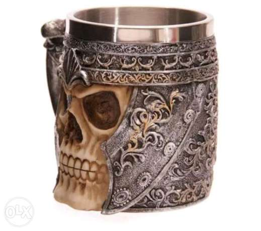 Skull stainless steel cup الظهران -  3