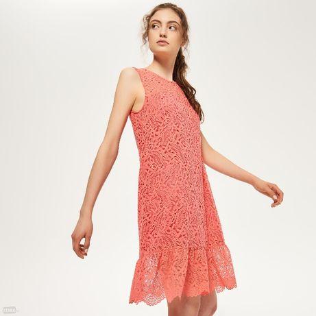 657814e528 reserved koronkowa sukienka koralowa Malbork - image 1