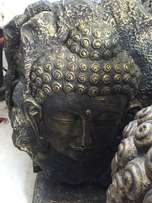 Large Buddha Face on Stand