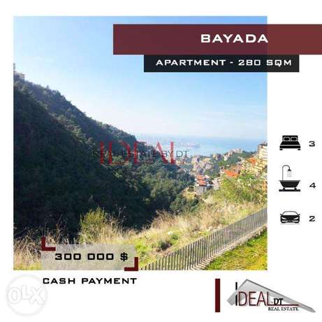 Mountain view apartment in Bayada for sale, 280 SQM. REF#MN60012.