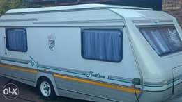 Good condition family caravan with extras