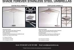 Stainless steel umbrellas