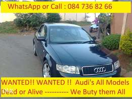 Wanted Audi with gearbox problems , non runners and accident damaged