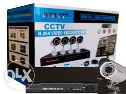 4 channel CCTV cameras complete kit and installation.