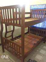 Double Decker Bed (Mahogany 3.5x6ft Size)