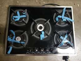 DEFY glass 5 burner gas hob