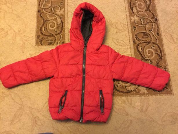 zara czerwona kurtka zimowa 98
